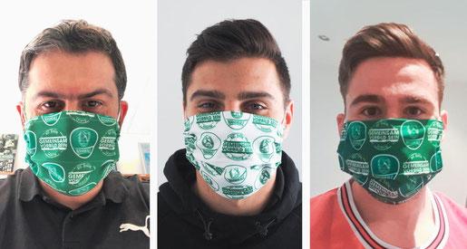 Mundbedeckung Mundmaske Nasenmaske Behelfsmaske Behelfsmundschutz Gesichtsmaske SC-DHFK Leipzig von Feld Textil GmbH Krefeld