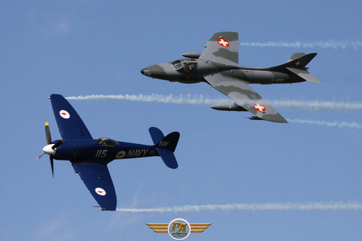 Photo 4:Hawker Hunter et Sea Fury – Ferté Alais 2014