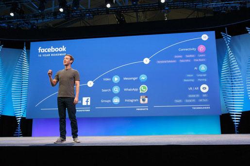 RoadMap de Facebook presentado por Mark Zuckerberg en 2018