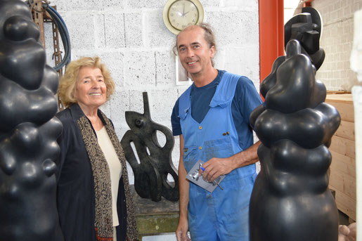 HEX received the BRIAN MERCER BRONZE RESIDENCY in 2012. His mentor in Pietrasanta was the famouse sculptor Helaine Blumenfeld OBE.