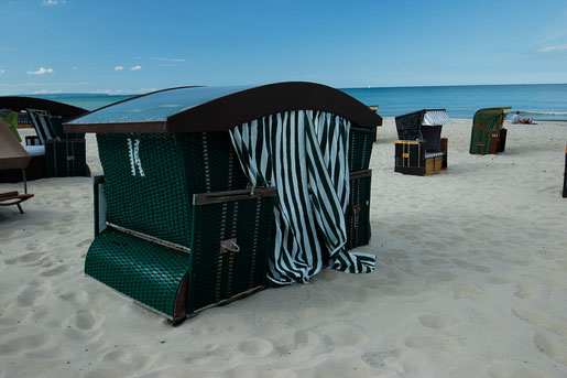 Sleeping on the beach, accomodations on the beach, Baltic Sea Germany