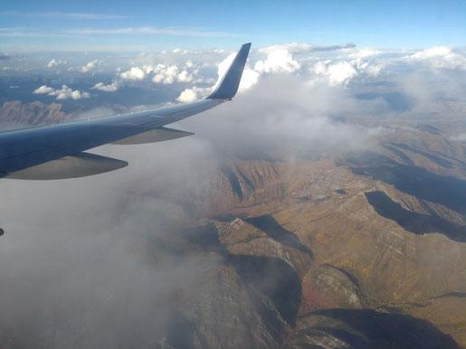 Blick aus dem Flugzeug auf Salt Lake City.