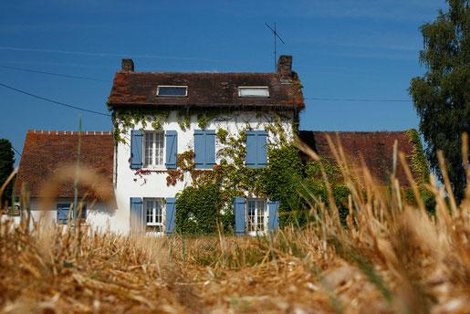 Häuser, Architektur Normandie, Frankreich