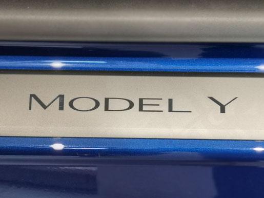 Tesla Model Y Türeinstiegsleiste Detailaufnahme