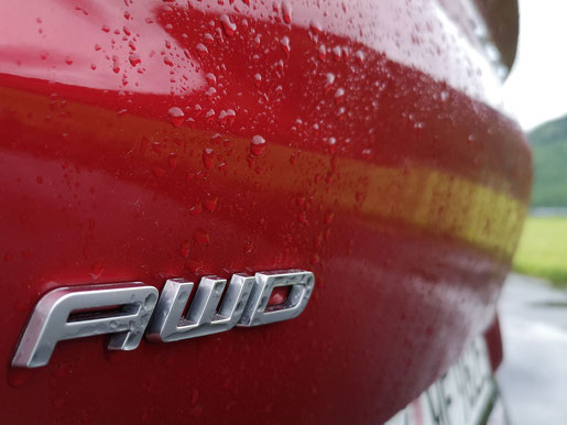 Mustang Mach-E mit AWD Detailaufnahme Heck