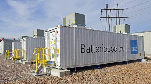 EKZ-Batteriespeicher in Volketswil (Foto: EKZ)