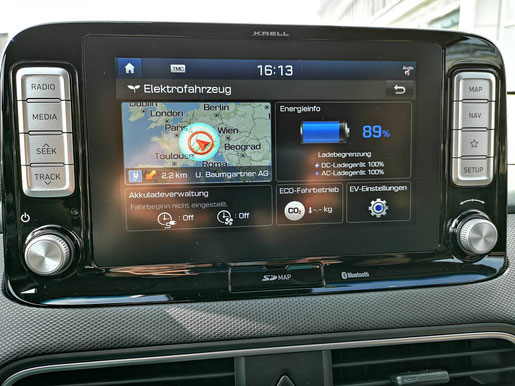 Hyundai KONA electric Navi