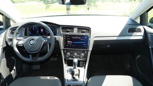 VW e-Golf Innenraum