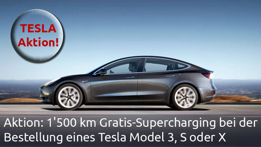 Tesla Model 3 Gratis Supercharger Nutzung