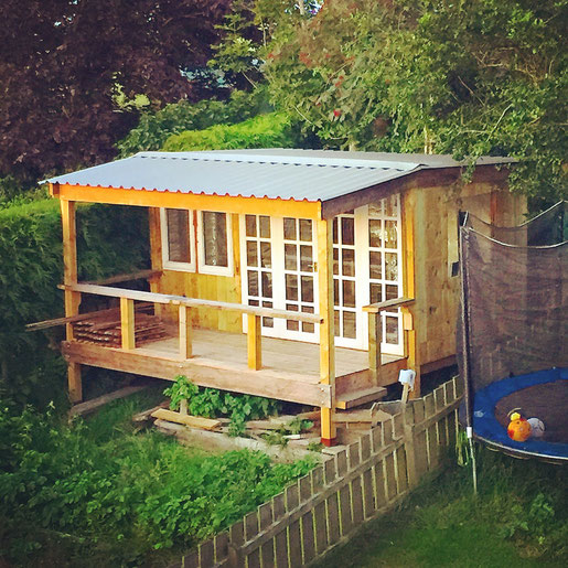 so the megaden is nearing completion standing on stilts its made from mainly reclaimed timber the doors and windows we picked up from gumtree - Garden Sheds Gumtree