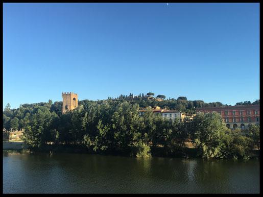 Florenz Villen Blick Sehenswürdigkeiten Arno