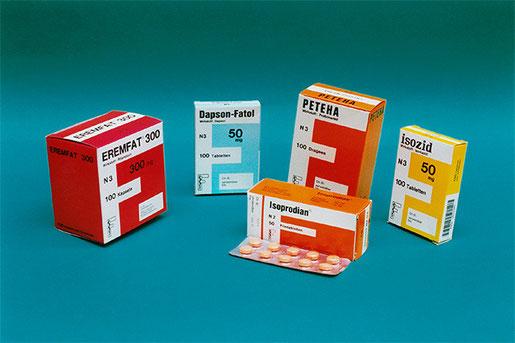 Einige Medikamente, die gegen Lepra verwendet werden