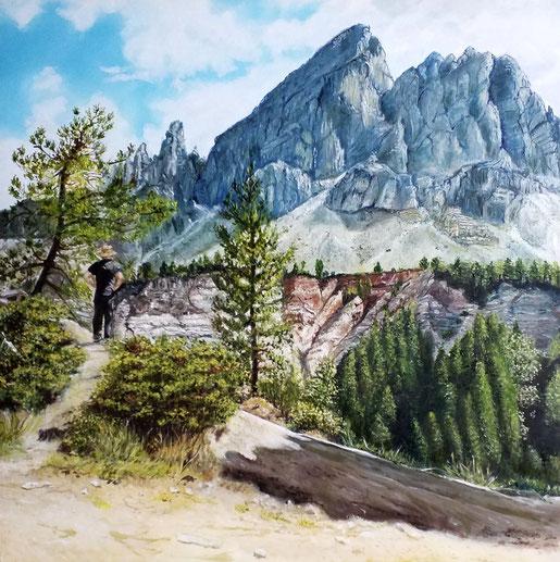 Würzjoch, Südtirol    40x40 cm, Öl auf Holzmalplatte, 2019