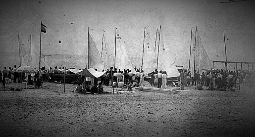 Agost 1942, regata que definira el model únic de patí català (Fons Horro, Vilanova i la Geltrú)