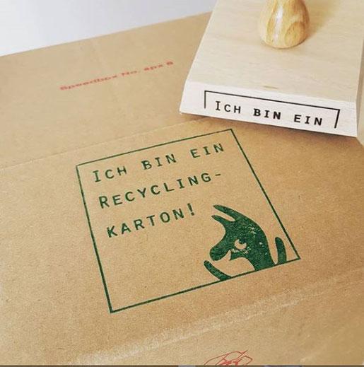 Recyclingkarton-Stempel