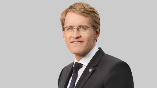 Der Ministerpräsident des Bundeslandes Daniel Günther