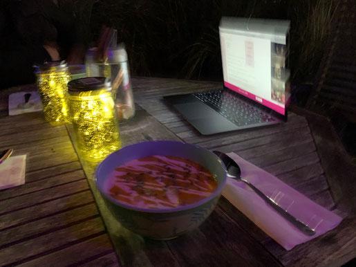 1, 2, 3, 4 – wir waren online auf Sendung und aßen gemeinsam den Sylter Pott leer.