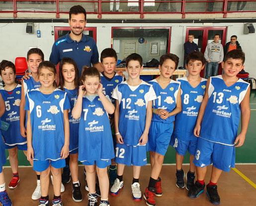 Gli Aquilotti di Centallo con coach Fabio Riva