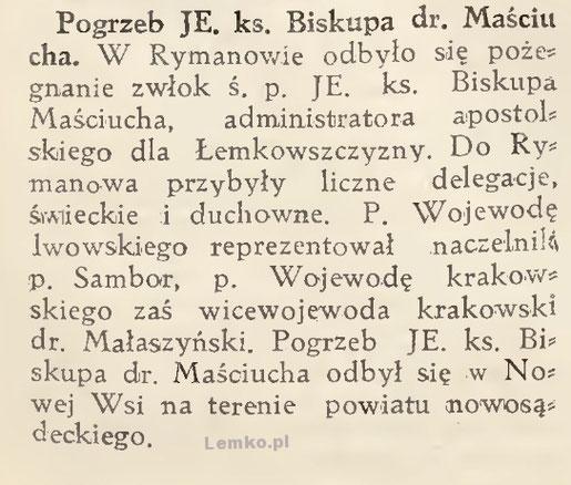 pogrzeb biskupa masciucha