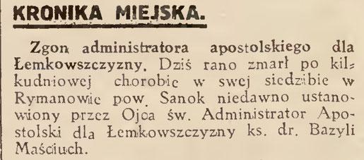 zgon administratora gazeta lwowska
