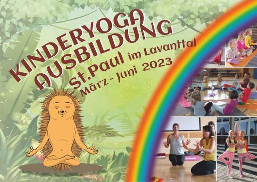 Flyer zur Kinderyoga-Ausbildung 2019 Wien