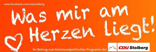 Das Motto der Bürgerdialoge dr CDU Stolberg