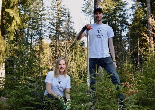 Aline und Gilles, Mitbegründer von Almighty Tree