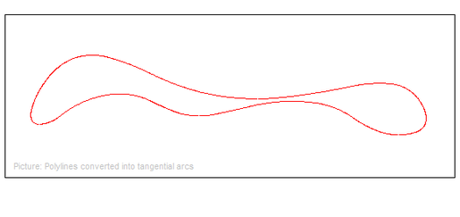 Convert  DXF Polyline and Spline to arcs