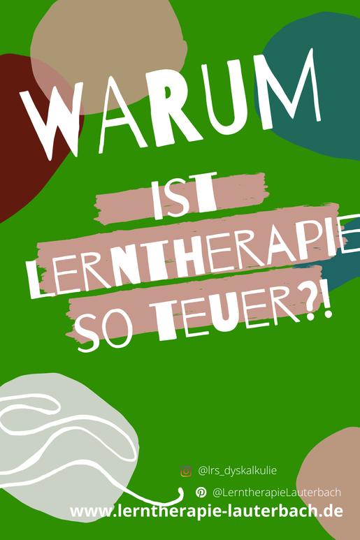 Warum ist Lerntherapie so teuer?