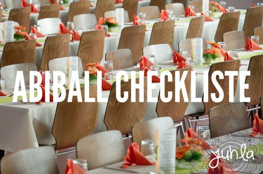 Mit dieser Checkliste wird euer Abiball ein unvergesslich guter Abend!