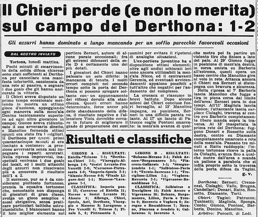 1962-63 DERTHONA - CHIERI 2-1