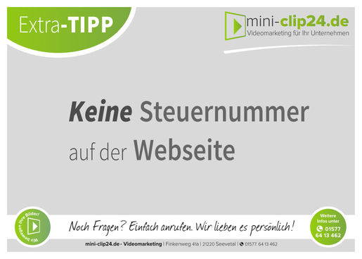 mini-clip24.de • Videomarketing - Steuernummer