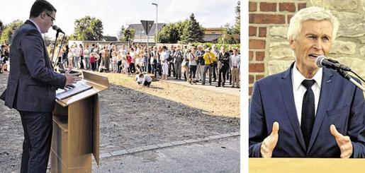 Viele Interessierte sind gekommen, um die vier neuen nach Breiniger Persönlichkeiten benannten Straßen einzuweihen. Mit dabei war DFB- Vize Eugen Gehlenborg. Fotos: D. Müller