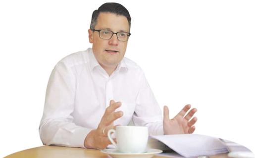 Sieht die Kupferstadt auf einem guten Weg in die Zukunft: Bürgermeister Tim Grüttemeier.