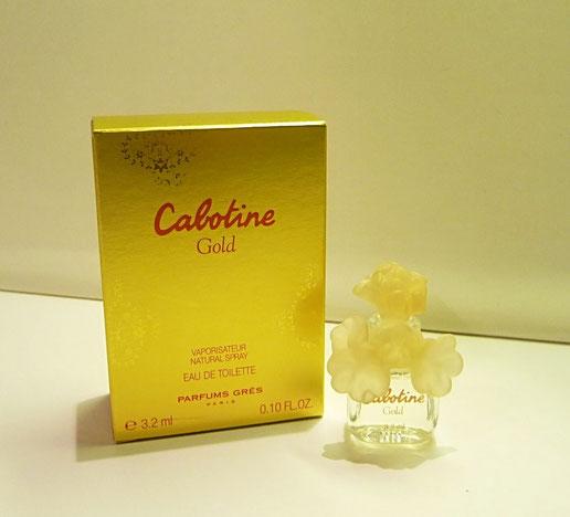 CABOTINE GOLD - 2012 - EAU DE PARFUM 3,2 ML, BOUCHON FLEUR EN PLASTIQUE JAUNE