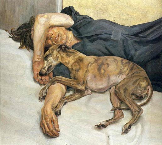 ルシアン・フロイド《Double Portrait》1985-1986年,