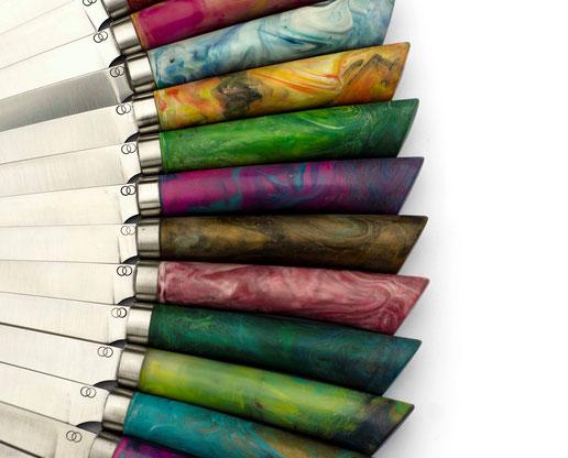Facto, Messermanufaktur, Recyclingmesser, nachhaltige Messer, Messerdesign, Carbonstahlmesser, bunte messer, plastikmesser