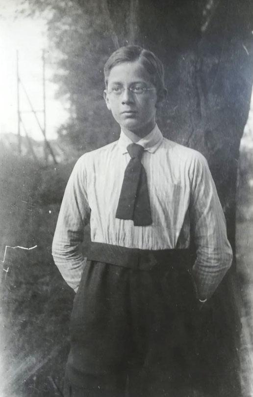 Wilhelm Frankenberg als Obertertianer, Alumnat Höxter, 1917
