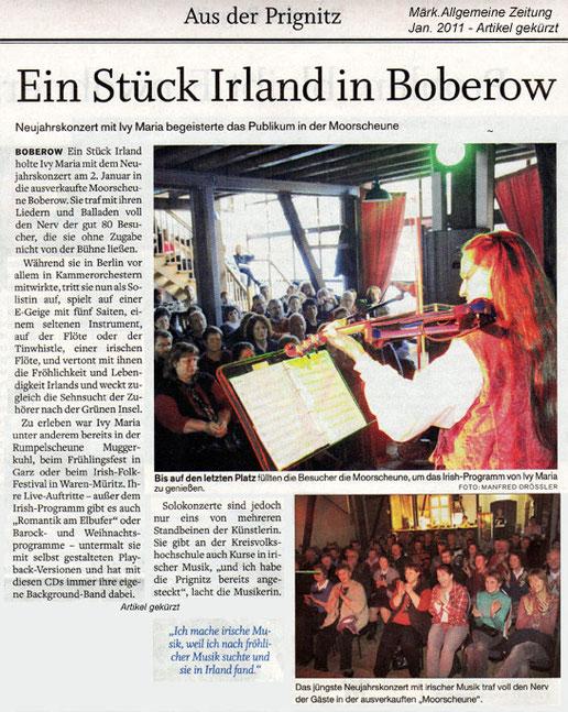 Irische Musik zum Neujahrskonzert 2011