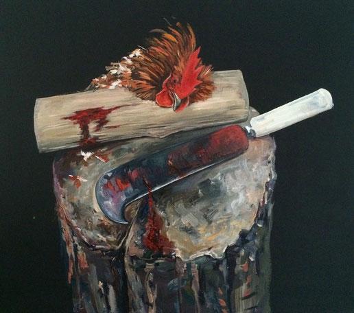 chicken, hühner , fine art, malerei, Tierportraits, Fiona Hernuss