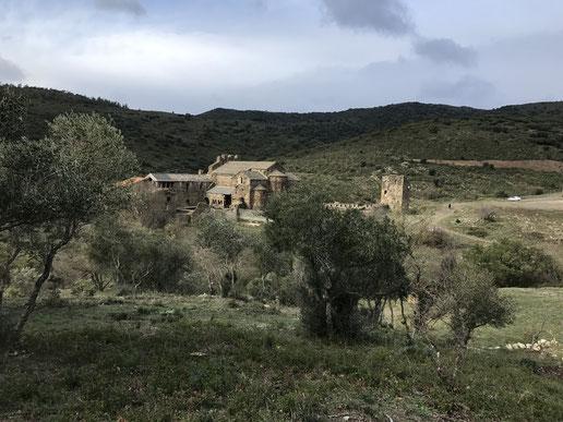 Randos Canétoises du col de Banyuls vers l'abbaye de St Quirze le 9 novembre 2017