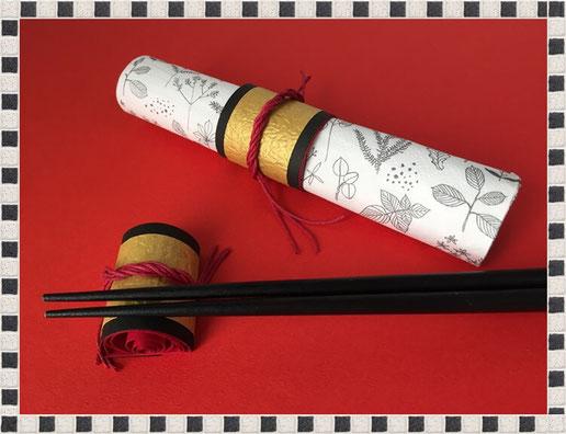 クイリングの祝い箸置き&紙ナプキンリングの画像2