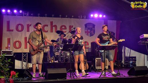 Partyband Sicherheitshalbe beim Johannisfest in Lorsch am 16.06.2018, verlinkt zum Facebook - Fotoalbum