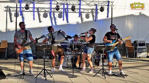 Partyband Sicherheitshalbe beim Bürgerparkfest am 01.07.2018, verlinkt zum Facebook - Fotoalbum