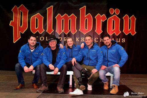 Partyband Sicherheitshalbe beim Brauereifest in Eppingen, Palmbräu am 23.03.2018, verlinkt zum Facebook - Fotoalbum