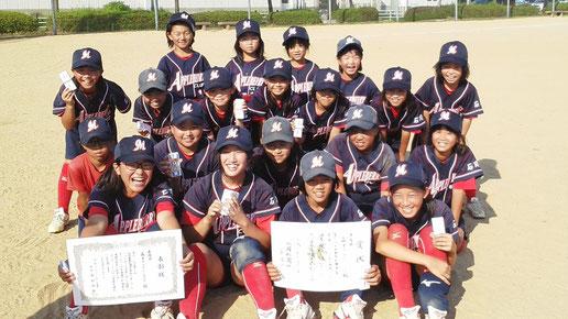 金沢市 森本アップルベリークラブ 女子小学生ソフトボール大会 準優勝