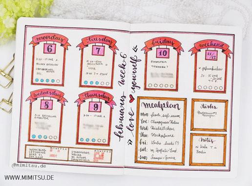 Bujo, Bullet Journal, Inspiration, Idea, Ideen, Bullet Journal Layout, Planner, Weekly, Week Weeklyspread, Bujoweekly, Wochenübersicht, Woche, Calender, Kalender,