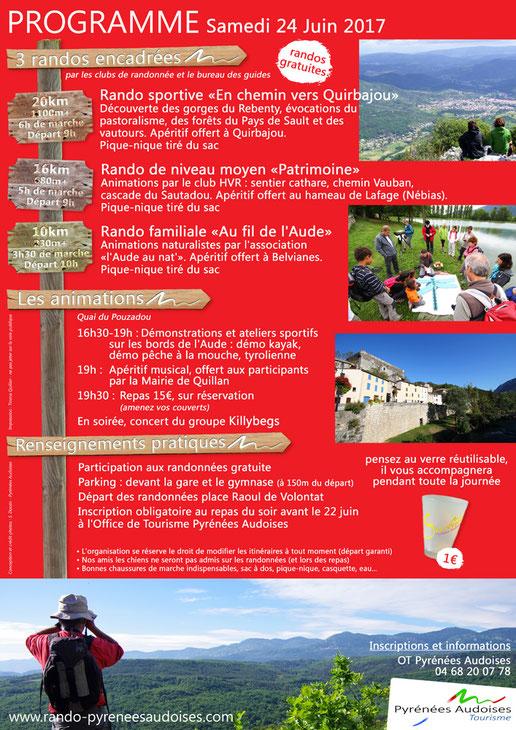 programme 2017 - Fête de la Randonnée des Pyrnées Audoises