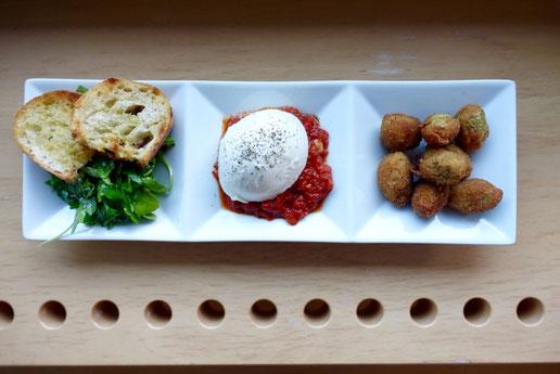 PimalButter Mädchenvöllerei französische Quiche mit Tomatensalat