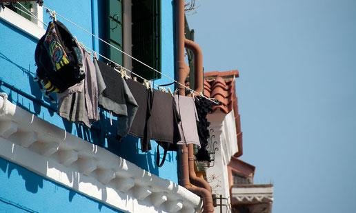 Wäschetrocknen auf Burano